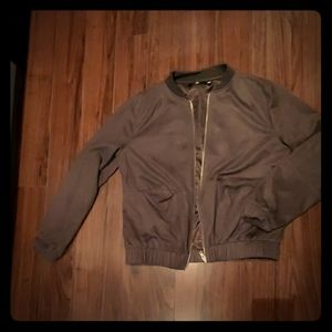 Misguided suede Bomber